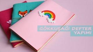Gambar cover Gökkuşağı Defter Yapımı | KENDİN YAP | DIY | Rainbow Notebook