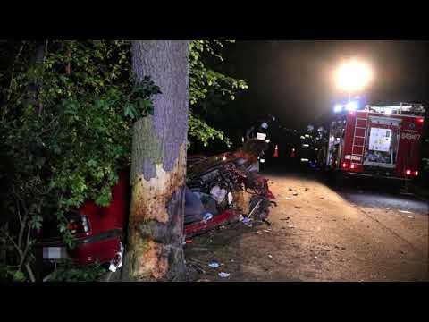 Wideo1: Groźny wypadek na DW 313 w miejscowości Liny