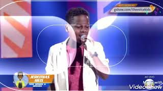 Jeremias Reis O Mais Votado Pelo Público Do Time Simone E Simaria The Voice Kids 70,43% Dos Votos
