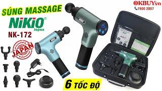 Video review giới thiệu súng massage cầm tay Nikio NK-172 model 2020