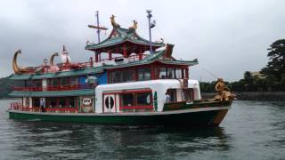 鳥羽港観光船龍宮城入港風景Ryūgū-jōship