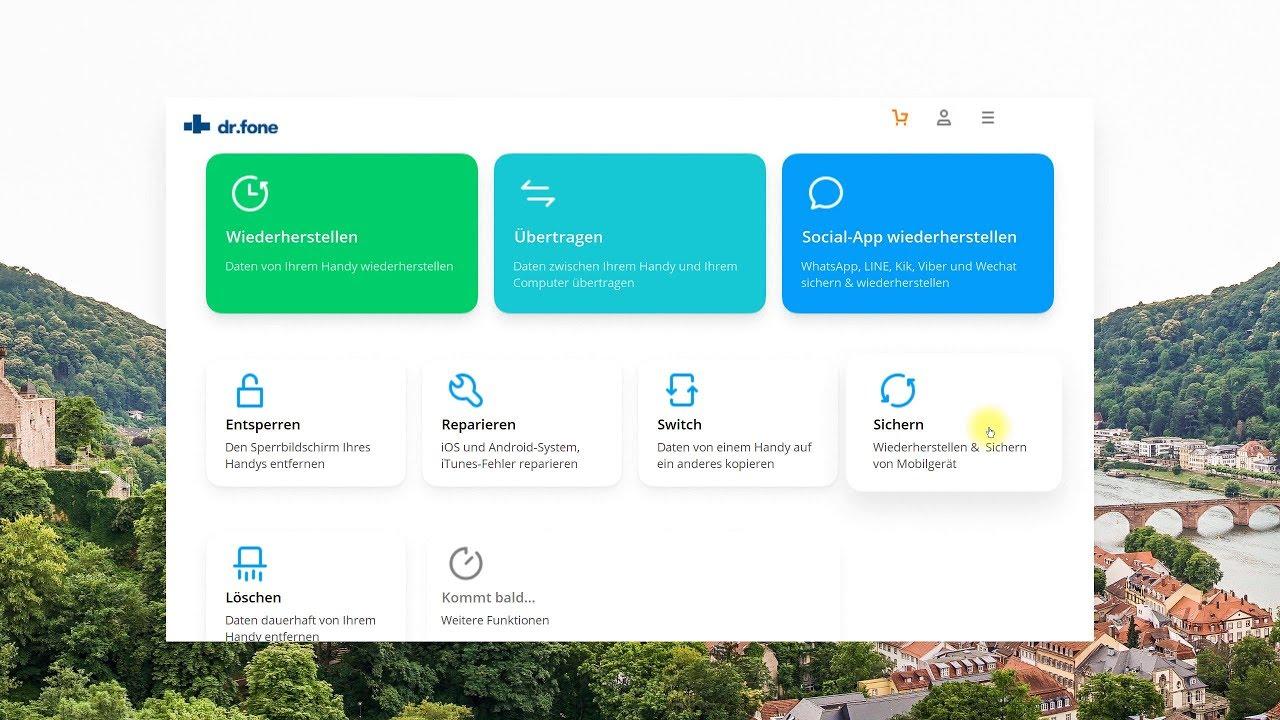 dr.fone Android/iOS Datenrettung, Transfer, Backup, Löschen, Reparieren uvm. – Programmvorstellung