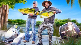 Catch & Cook Bass Fishing In The Bayou!
