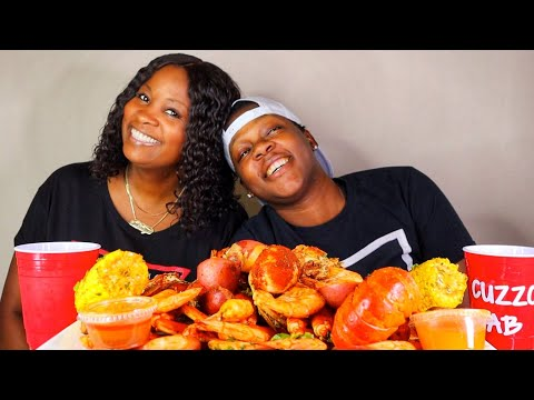 SEAFOOD BOIL + SNOWCRABS +LOBSTER MUKBANG WITH MY EXTRA MOM!!!