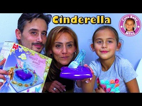 DISNEY CINDERELLA GLASS SLIPPER GAME   Cinderellas gläserner Schuh   CuteBabyMiley