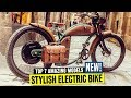 7 New Electric Bikes w Old School Designs and Retro Bicycle Accessories