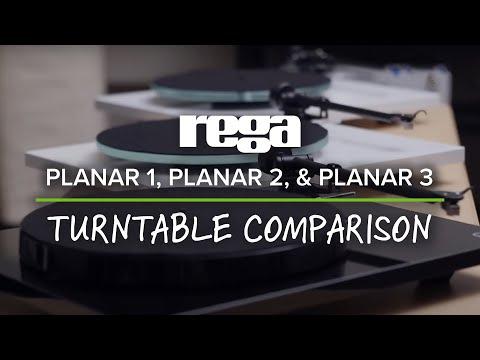 Rega Planar 1, Planar 2, & Planar 3 Turntable Comparison