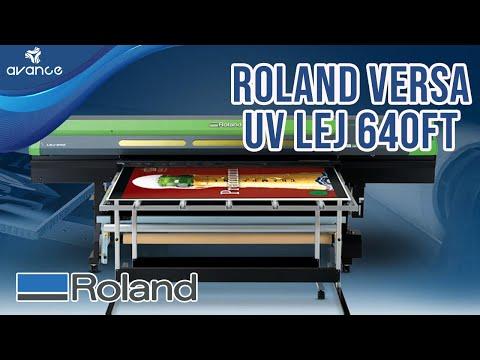Impresora de cama plana Roland Versa UV LEJ 640FT ideal para impresión en rígidos