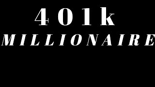 HOW TO BECOME A 401K MILLIONAIRE | How much money you need to invest and how long it will take.