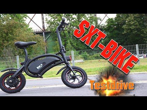 Sxt Bike Testdrive, Anleitung, Tutorial, Review, Escooter, Eroller, mini E-Bike (DEU,GER)