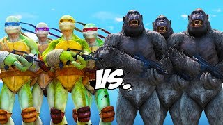 TEENAGE MUTANT NINJA TURTLES VS GORILLA ARMY