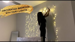 Decorating Room With Fairy Lights DIY |Simply Monet