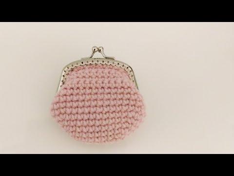 かぎ針編み ふっくらシンプルながま口財布 Crochet Simple Coin Purse