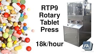 Tablet Pill Press (RTP 9) 20,000 per hour Introductory Video