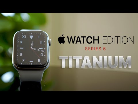 Apple Watch Edition Titanium Series 6 with Inverness Green Braided Solo Loop - UNBOXING