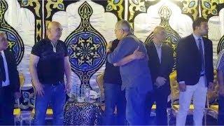شوبير ووليد صلاح الدين أول الحاضرين في عزاء شقيق حسام وابراهيم حسن