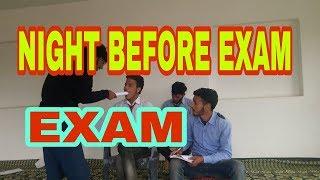 Night before exam