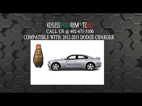 Dodge Challenger Charger 2012 To 2018 Key Fob Open Replace Battery