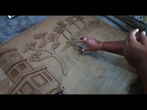 mural clay art tutorial by art tech