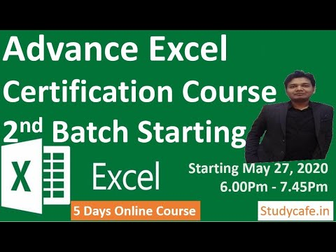 5 Days Free Online Excel Certification Course - YouTube