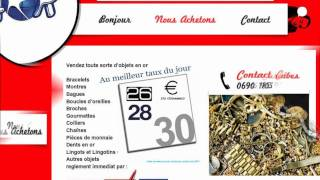 preview picture of video 'ACHAT D OR GUADELOUPE SAINTE ANNE  aOr'