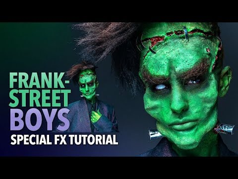Frankenstein's Monster boyband Halloween makeup tutorial