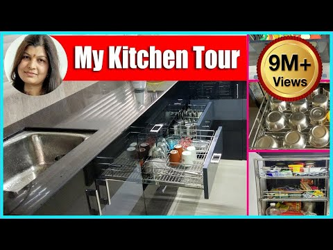 Indian organised Kitchen Tour ideas in hindi | रसोई कैसे सजाये | HOW TO ORGANIZE KITCHEN CABINET