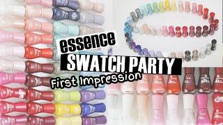 ESSENCE NEUHEITEN! 46 FARBEN - essence the gel nail polish  SWATCH PARTY
