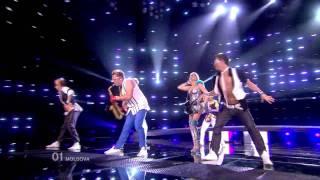 HD HDTV MOLDOVA Eurovision Song Contest 2010 1st semifinal LIVE Sunstroke Project Olia Tira Run Away