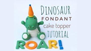 Dinosaur Fondant Cake Topper Tutorial
