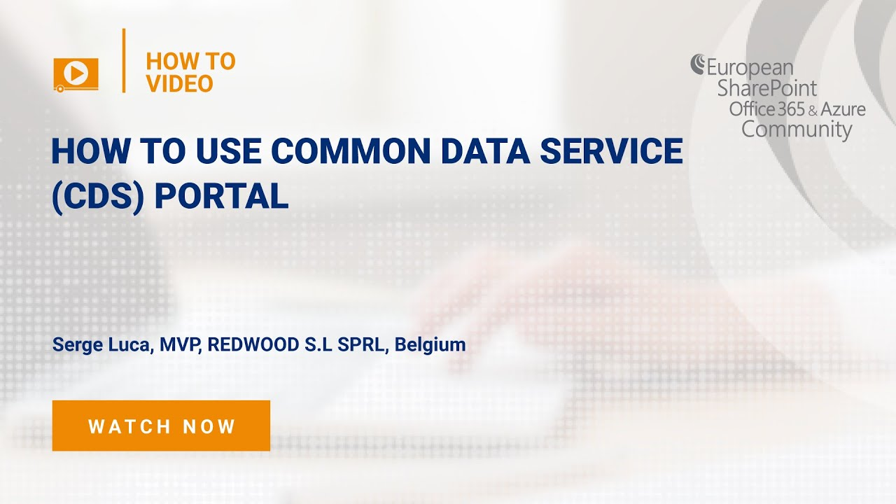 How To use Common Data Service (CDS) Power Apps Portal