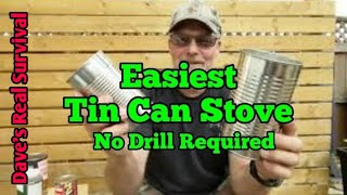 161. Easiest Tin Can Rocket Stove Hybrid - No Drill Required.