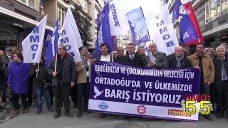 KESK DİSK VE TMMOB ÜYELERİ DOĞU'DA YAŞANAN OLAYLARI HEDEF ALDI...