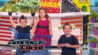 Dom the Bom's Triple Threat: Kids Cut Food with Flying Cards - America's Got Talent 2014