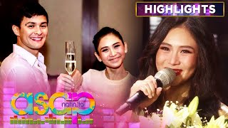 """The """"ASAP Natin 'To"""" family show their love and support to Sarah Geronimo for her recent wedding to Matteo Guidicelli.  Subscribe to the ABS-CBN Entertainment channel! - http://bit.ly/ABS-CBNEntertainment  Watch your favorite Kapamilya shows LIVE! Book your tickets now at http://bit.ly/KTX-ASAPXP  Watch the full episodes of ASAP on TFC.TV  http://bit.ly/ASAP27-TFCTV and on iWant for Philippine viewers, click:  http://bit.ly/ASAPNatinToiWant  Visit our official websites!  https://entertainment.abs-cbn.com/tv/... http://www.push.com.ph  Facebook: http://www.facebook.com/ABSCBNnetwork Twitter: https://twitter.com/ABSCBN  Instagram: http://instagram.com/abscbn  #ASAPNatinTo #SarahGeronimo #AshMatt"""