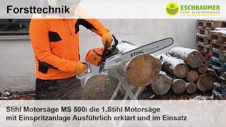 Stihl Motorsäge MS 500i die 1.Stihl Motorsäge mit Einspritzanlage Ausführlich erklärt und im Einsatz