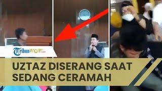 Detik-detik Ustaz Abu Syahid Chaniago Diserang saat Ceramah, Pelaku Dihajar Ibu-ibu Pengajian