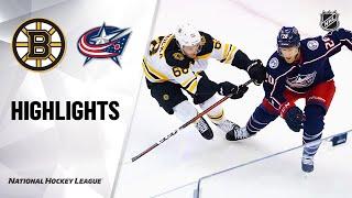 NHL Exhibition Highlights | Bruins @ Blue Jackets 07/30/20
