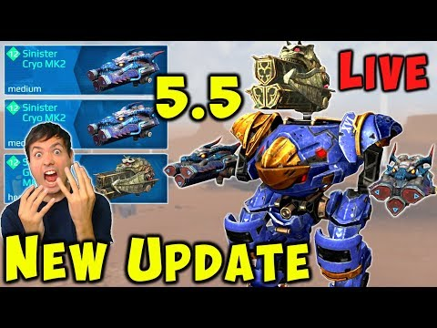 NEW 5.5 Update Weapons LIVE: RIME, CRYO, GLACIER War Robots Gameplay WR