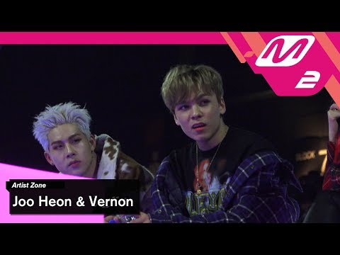 [2017MAMA x M2] 주헌 & 버논 Reaction to NCT127s Performance