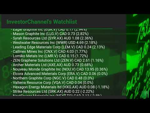 InvestorChannel's Graphite Watchlist Update for Friday, Ju ... Thumbnail