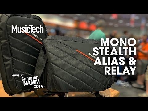 Practical DJ/producer bags Alias and Relay launched by MONO #SummerNAMM2019