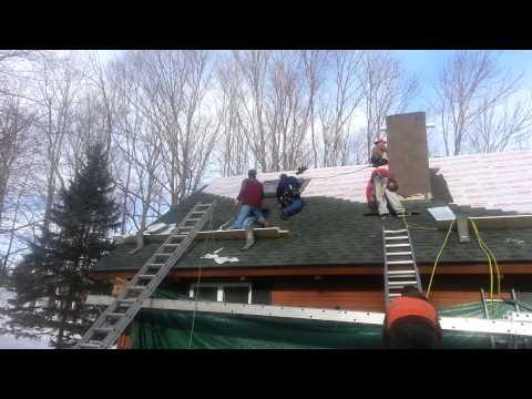 During Roofing Job in Fleishmanns, NY
