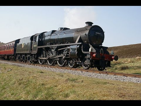 LMS 45212 hauling Steam Dreams 'Cathedrals Express' near Upm…