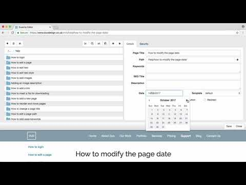 How to modify the page date