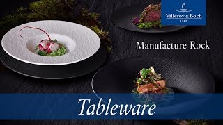 Villeroy & Boch Gourmetbord Manufacture Rock Wit 32.5 x 32.5 cm