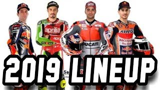 MOTOGP 2019 LINEUP Riders and New Team
