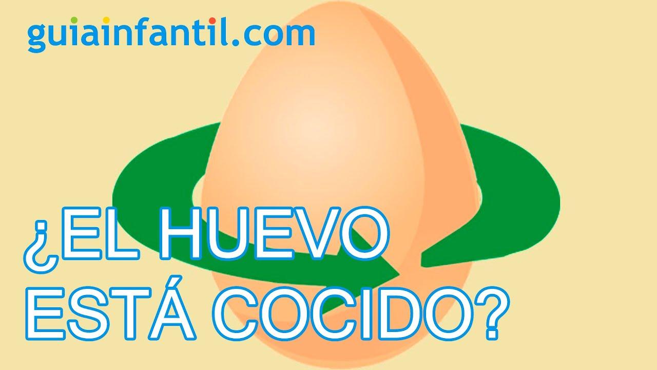 Experimentos para niños. Cómo saber si un huevo está cocido sin abrirlo