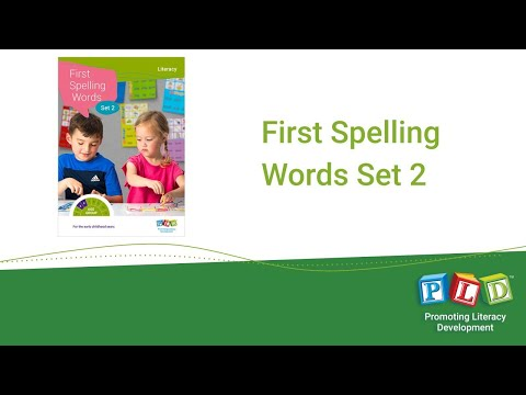 First spelling words, set 2