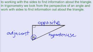 Right Triangle Trigonometry - Vocabulary